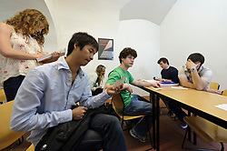 Students participate in the Trinity College study abroad program in Vienna, Austria on Thursday, April 7, 2011. (Photo © Jock Fistick)