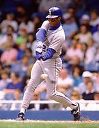 DETROIT - 1992:  Ken Griffey Jr. of the Seattle Mariners bats during an MLB game against the Detroit Tigers at Tiger Stadium in Detroit, Michigan during the 1992 season. (Photo by Ron Vesely)  Subject:  Ken Griffey Jr.