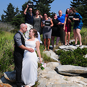 GEORGETOWN, Maine -- 8/22/13 -- Wedding of Mike and Joanna at Reid State Park and reception at Beale St Bar and Grille, Bath. <br /> Photo © 2013 by Roger S. Duncan.
