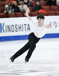 February 7, 2019 - Los Angeles, California, U.S - He Zhang of China competes in the Men Short Program during the ISU Four Continents Figure Skating Championship at the Honda Center in Anaheim, California on February 7, 2019. (Credit Image: © Ringo Chiu/ZUMA Wire)