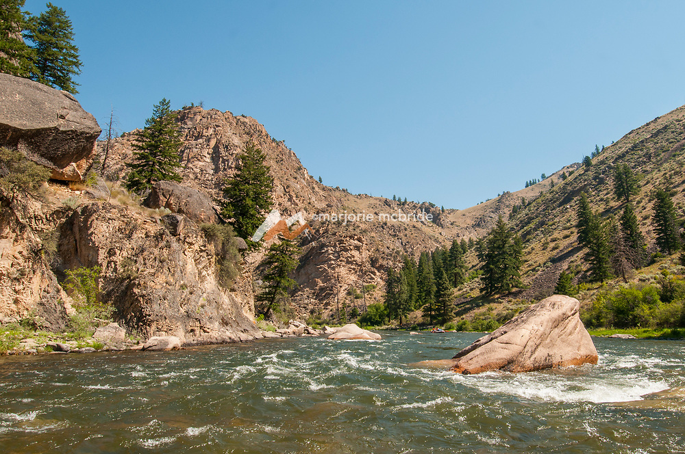 Scenic granite walls on the Middle Fork of the Salmon River, Idaho.
