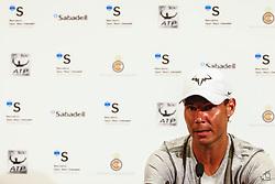 April 23, 2018 - Barcelona, Spain - Rafael Nadal during the Barcelona Open Banc Sabadell 66º Trofeo Conde de Godo press conference at Reial Club Tenis Barcelona on 23 of April of 2018 in Barcelona. (Credit Image: © Xavier Bonilla/NurPhoto via ZUMA Press)