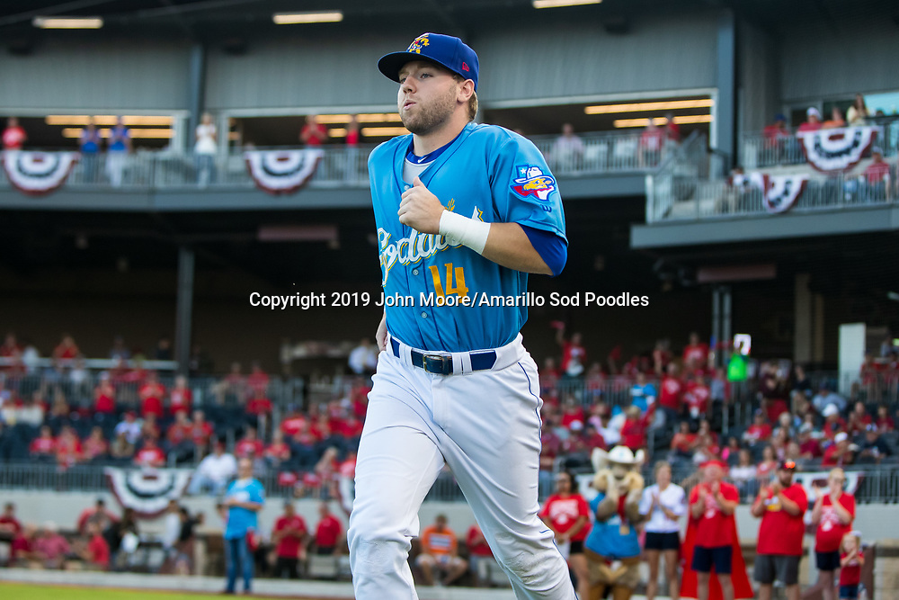 Amarillo Sod Poodles infielder Owen Miller (14) against the Tulsa Drillers during the Texas League Championship on Tuesday, Sept. 10, 2019, at HODGETOWN in Amarillo, Texas. [Photo by John Moore/Amarillo Sod Poodles]