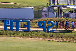 May 18, 2018 - Dallas, TX, U.S. - DALLAS, TX - MAY 18: Fans can be the letter ''I'' in Jordan Spieth during the second round of the 50th AT&T Byron Nelson on May 18, 2018 at the Trinity Forest Golf Club in Dallas, Texas. (Photo by Matthew Pearce/Icon Sportswire) (Credit Image: © Matthew Pearce/Icon SMI via ZUMA Press)