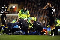 Fabrice Muamba collapses on the pitch and is given Emergency CPR on the pitch by Paramedics<br />Bolton Wanderers 2011/12<br />Tottenham Hotspur V Bolton Wanderers 17/03/12<br />The FA Cup 6th Round<br />Photo: Robin Parker Fotosports International