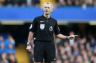Referee Martin Atkinson looking on, Premier league match, Chelsea v Arsenal at Stamford Bridge in London on Saturday 4th February 2017.<br /> pic by John Patrick Fletcher, Andrew Orchard sports photography.