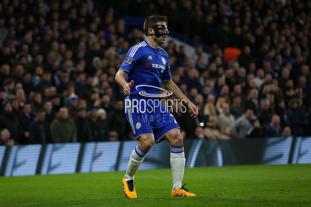 Chelsea's Cesar Azpilicueta during the Barclays Premier League match between Chelsea and Manchester United at Stamford Bridge, London, England on 7 February 2016. Photo by Ellie Hoad.