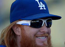June 21, 2017 - Los Angeles, California, U.S. - Los Angeles Dodgers' Justin Turner prior to a Major League baseball game against the New York Mets at Dodger Stadium on Wednesday, June 21, 2017 in Los Angeles. Los Angeles. (Photo by Keith Birmingham, Pasadena Star-News/SCNG) (Credit Image: © San Gabriel Valley Tribune via ZUMA Wire)