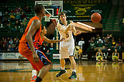 WACO, TX - JANUARY 3: Brady Heslip #5 of the Baylor Bears passes the ball against the Savannah State Tigers on January 3, 2014 at the Ferrell Center in Waco, Texas.  (Photo by Cooper Neill/Getty Images) *** Local Caption *** Brady Heslip