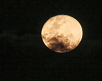Moon over the Bay of Bengal from the deck of the MV World Odyssey. Image taken with a Nikon N1V3 camera and 70-300 mm VR lens.