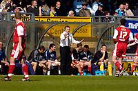 Photo: Alan Crowhurst.<br />Wycombe Wanderers v Darlington. Coca Cola League 2. 29/04/2006. The Darlington coach shouts the orders.