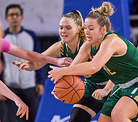 UAB Blazers guard Rachael Childress (32) loses control of the ball during the UAB Blazers at Middle Tennessee Blue Raiders college basketball game in Murfreesboro, Tennessee, Thursday, February, 20, 2020.<br /> Photo: Harrison McClary/All Tenn Sports