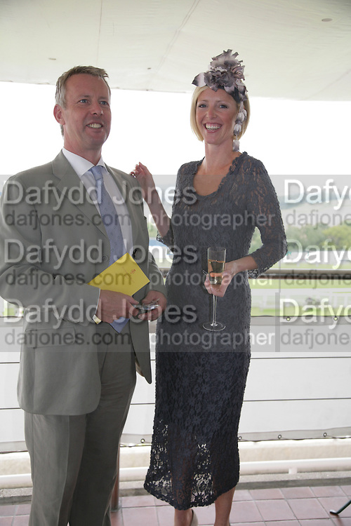 Andrew Thompson and Hannah Walker, Glorious Goodwood. 2 August 2007.  -DO NOT ARCHIVE-© Copyright Photograph by Dafydd Jones. 248 Clapham Rd. London SW9 0PZ. Tel 0207 820 0771. www.dafjones.com.