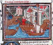 Indian ships described by Marco Polo (1254-1324) in his 'Book of Marvels' but more like the European Cog.