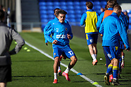 AFC Wimbledon midfielder Ayoub Assal (17) warming up prior to kick off during the EFL Sky Bet League 1 match between AFC Wimbledon and Hull City at Plough Lane, London, United Kingdom on 27 February 2021.