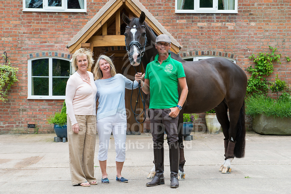 Valegro and his owners (L-R) Rowena Luard, Anne Barrott and Carl Hester - Oaklebrook Mill, Newent, Gloucestershire, United Kingdom - 09 June 2015