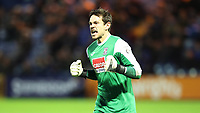 Football - 2016 / 2017 FA Cup - First Round : Stockport County v Woking <br /> <br /> <br /> Brandon Hall of Woking FC celebrates during the match at Edgeley Park.<br /> <br /> COLORSPORT/LYNNE CAMERON