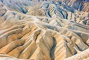 Zabriskie Point Topography in Death Valley National Park