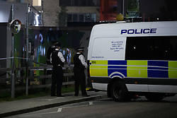 © Licensed to London News Pictures. 19/09/2021. London, UK. Police on scene at Cator Park on Cambert Way in Greenwich following a call at 17:32BST on Saturday 18/09/2021 to a body of a female found near the community centre. A man was arrested several hours later at approximately 21:20BST at an address in Lewisham on suspicion of murder and was taken into custody at a south London police station. Photo credit: Peter Manning/LNP