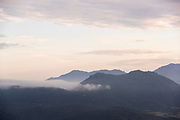 View of mountains and clouds on sky, Zonza, Corsica, France