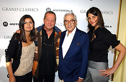 Left to right,VANESSA WINGATE, TERRY GILLIAM, KEN ADAM and KATRINA PAVLOS,  at Grand Classics, London: Screening of Dr Strangelove held at The Electric Cinema, Portobello Road, London on 3rd May 2006.<br />