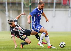 20.07.2016, Wörthersee Stadion, Klagenfurt, AUT, Testspiel, RZ Pellets WAC gegen FC Chelsea im Bild Thomas Zündel (RZ Pellets WAC) and Branislav Ivanovic (FC Chelsea) // during a football test match between RZ Pellets WAC and FC Chelsea at the Wörthersee Stadium, Klagenfurt, Austria on 2016/07/20, EXPA Pictures © 2016, PhotoCredit: EXPA/ Wolfgang Jannach