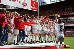 Bayern Munich players celebrate - Mandatory by-line: Arron Gent/JMP - 28/07/2019 - FOOTBALL - Emirates Stadium - London, England - Arsenal Women v Bayern Munich Women - Emirates Cup