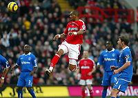 Fotball<br /> England 2004/22005<br /> Foto: SBI/Digitalsport<br /> NORWAY ONLY<br /> <br /> Charlton Athletic v Birmingham City<br /> Barclays Premiership. 15/01/2005<br /> <br /> Shaun Bartlett does not get a touch but the ball ends up in the net anyway from the free kick from Talal El Karkouri