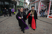 Canterbury 21/3/2013 - VIP guests from all religions, denominations and faiths arrive before the enthronement of the Church of England's 105th Archbishop of Canterbury, ex-oil executive and former Bishop of Durham the Right Reverend Justin Welby. Welby (57) follows a long Anglican heritage since Benedictine monk Augustine, the first Archbishop of Canterbury in 597AD Prince Charles and Prime Minister David Cameron joined 2,000 VIP guests to Canterbury Cathedral, the oldest church in England which has attracted pilgrims since Thomas a Becket was murdered in the Cathedral in 1170.