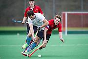 Southgate v West Herts - Men's Hockey League - East Conference, Trent Park, London, UK on 19 February 2017. Photo: Simon Parker