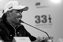 Post race press conference. BMW Oracle wins the first race of the 33rd America's Cup. Valencia, Spain, February 10th 2010. © Sander van der Borch