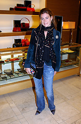 FRANCESCA VERSACE at a party hosted by Burberry to launch their special collection in aid of Breakthrough Breast Cancer, held at 21-23 New Bond Street, London W1 on 5th October 2004.<br /><br />NON EXCLUSIVE - WORLD RIGHTS