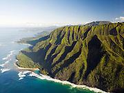Coastline of Na Pali Coast National Park, Kaua?i, Hawai?i