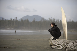 July 21, 2019 - Surfer On Beach, Cox Bay Near Tofino, British Columbia, Canada (Credit Image: © Deddeda/Design Pics via ZUMA Wire)