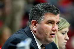 19 November 2011:  Director of Media Relations Todd Kober during an NCAA mens basketball game between the Lipscomb Bison and the Illinois State Redbirds in Redbird Arena, Normal IL
