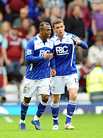 Birmingham City/Burnley Premiership 01.05.10<br /> Photo: Tim Parker Fotosports International<br /> Chucho Birmingham City celebrates his 1st goal at St Andrews and City's 2nd in the game