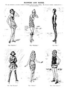 Manner and Modes. We are promised a greater variety in bathing costumes this summer. Mr. Punch's fashion artist appends a few suggestions.