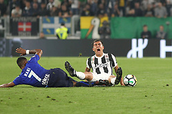 October 14, 2017 - Turin, Piedmont, Italy - Luis NANI (SS Lazio, left)  and Paulo Dybala (Juventus FC, right) during the Serie A football match between Juventus FC and SS Lazio at Olympic Allianz Stadium on 14 October, 2017 in Turin, Italy. (Credit Image: © Massimiliano Ferraro/NurPhoto via ZUMA Press)