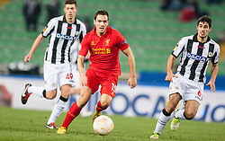 06.12.2012, Stadio Friuli, Udine, ITA, UEFA EL, Udinese Calcio vs FC Liverpool, Gruppe A, im Bild Luca Corrado (# 49, Udinese Calcio), Stewart Downing (# 19, Liverpool FC), Davide Faraoni (# 06, Udinese Calcio) // during the UEFA Europa League group A match between Udinese Calcio and Liverpool FC at the Stadio Friuli, Udinese, Italy on 2012/12/06. EXPA Pictures © 2012, PhotoCredit: EXPA/ Juergen Feichter
