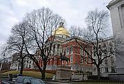 USA, Massachusetts, Boston Statue of Major General Joseph Fighting Joe Hooker in front of the Massachusetts State House April 2007