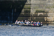 Mortlake/Chiswick, GREATER LONDON. United Kingdom. AZS AWF Warszawa (PL), competing in the 2017 Vesta Veterans Head of the River Race, The Championship Course, Putney to Mortlake on the River Thames.<br /> <br /> <br /> Sunday  26/03/2017<br /> <br /> [Mandatory Credit; Peter SPURRIER/Intersport Images]