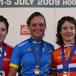 Sportfoto archief 2006-2010<br /> 2009<br /> Podium women -23 1th Chantal Blaak, 2nd Kathy Colclough, 3th Marianne Vos