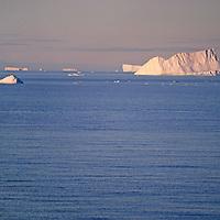 ANTARCTICA. Icebergs in southern Pacific Ocean off Antarctic Peninsula, near Hope Bay.