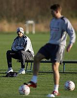 Photo: Paul Thomas.<br /> England training session. 05/02/2007.<br /> <br /> Rio Ferdinand during England training.