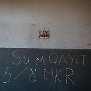 Asia, Azerbaijan, Nagorno-Karabakh, Jebrail<br /> <br /> Food, uniforms and signs of soldiers and military litter the rooms of a former school in a rural village near Jebrail's centre.
