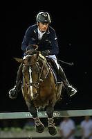 Denis Lynch on Ho Go van de Padenborre competes during Hong Kong Jockey Club Trophy at the Longines Masters of Hong Kong on 19 February 2016 at the Asia World Expo in Hong Kong, China. Photo by Juan Manuel Serrano / Power Sport Images