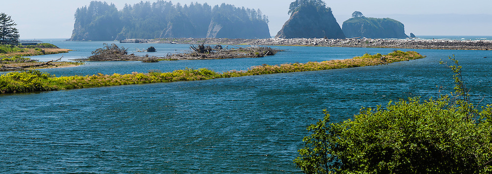 Mouth of Quillayute River.  La Push on the left, Rialto Beach on the right.