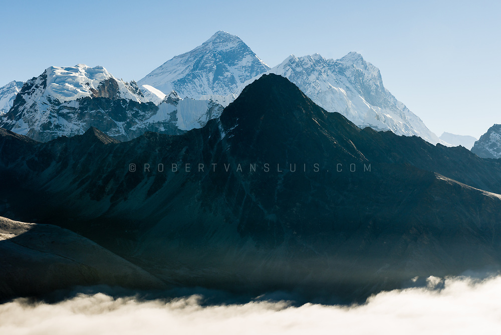 Morning view of Mount Everest and Nuptse from Gokyo Ri, Nepal. Photo © robertvansluis.com