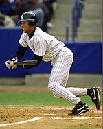 TAMPA - 2000:  Derek Jeter of the New York Yankees bats during an MLB spring training game at Legend Field in Tampa, Florida, (Photo by Ron Vesely)  Subject:   Derek Jeter