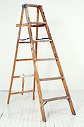 wooden ladder by itself